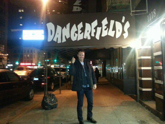 Ben at Dangerfield's Comedy Club in New York City